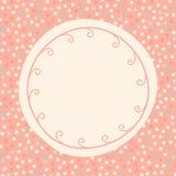Carte ronde d'invitation de points de polka Image stock