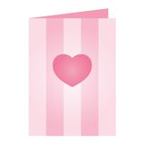 Carte rose de jour de Valentines Image stock