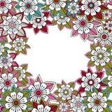 Carte rose florale de salutation ou d'invitation Images libres de droits
