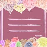 Carte rose pour des amants pour des vacances photos stock