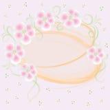 Carte rose Wedding avec les éléments floraux Photo libre de droits
