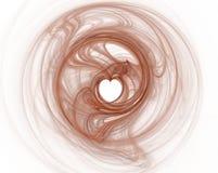 Carte rouge de coeur Photos libres de droits