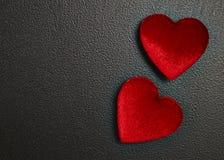 Carte rouge de jour du ` s de Valentine de coeur Image libre de droits