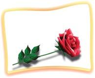 Carte rouge de Rose illustration libre de droits