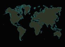 Carte rougeoyante du monde illustration libre de droits