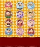 Carte russe de poupée Image libre de droits