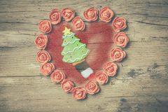 Carte rustiche di Santa Nativity Fotografia Stock