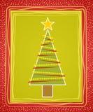 Carte rustique d'arbre de Noël Image libre de droits