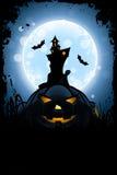 Carte sale de Halloween Photographie stock libre de droits