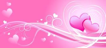 carte saluant le valentine rose Illustration Stock