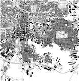 Carte satellite de Baltimore, le Maryland, rues de ville LES Etats-Unis illustration de vecteur