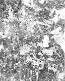 Carte satellite de Bangalore, Inde, rues de la ville illustration libre de droits