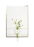 Carte sensible avec des fleurs Photo libre de droits