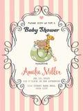 Carte sensible de douche de bébé illustration stock