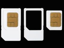 Carte SIM fotografia stock libera da diritti