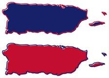 Carte simplifiée de contour de Puerto Rico La suffisance et la course sont natio illustration libre de droits