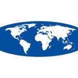 Carte sphérique du monde de vecteur Photo stock