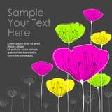 Carte stylisée de fleurs Photos libres de droits