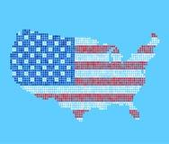 Carte stylisée des Etats-Unis illustration de vecteur