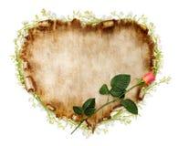 Carte stylisée de Valentine de beau cru Photos libres de droits