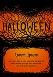 Carte su invito del modello per i partiti di Halloween Fotografia Stock Libera da Diritti