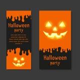 Carte su invito stabilite del modello per i partiti di Halloween Fotografia Stock