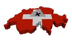 Carte suisse d'élection avec le vote Images libres de droits