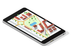 Carte sur l'écran de smartphone Image stock