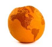 Carte sur l'orange Photographie stock