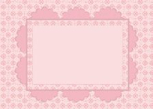 Carte sur la configuration rose Images stock