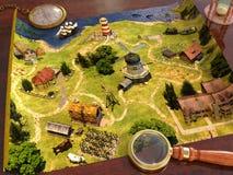 carte sur la table illustration de vecteur