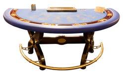Carte-table bleue photos stock