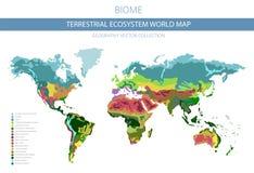 Carte terrestre du monde d'écosystème Biome Conception infographic de zone climatique du monde illustration libre de droits