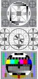 Carte-test de TV Image libre de droits