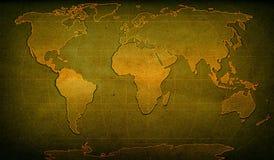 Carte texturisée de mot Photos libres de droits