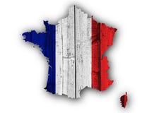 Carte texturisée des Frances dans des couleurs gentilles Photos libres de droits