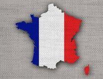 Carte texturisée des Frances dans des couleurs gentilles Image libre de droits