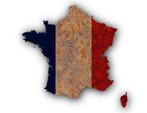 Carte texturisée des Frances dans des couleurs gentilles Photo libre de droits