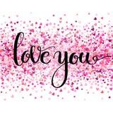 Carte tirée par la main artistique créative de jour de Valentine s Illustration de vecteur Mariage, amour, calibre romantique Aim illustration libre de droits