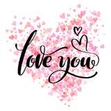 Carte tirée par la main artistique créative de jour de Valentine s Illustration de vecteur Mariage, amour, calibre romantique Aim illustration de vecteur