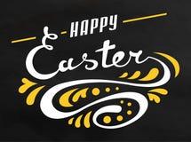Carte tirée par la main de Pâques Image libre de droits