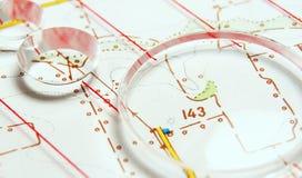 Carte topographique photos stock