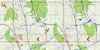 Carte topographique abstraite sans couture La configuration sans joint peut être utilisée pour le papier peint, motifs de remplis Photos stock