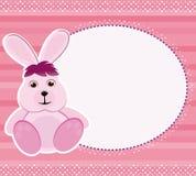 Carte/trame d'invitation avec le lapin Image libre de droits