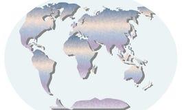Carte triangulaire dans le gradient Image libre de droits