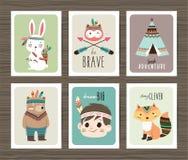 Carte tribali degli animali royalty illustrazione gratis
