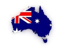 Carte tridimensionnelle d'Australie. illustration de vecteur
