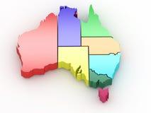 Carte tridimensionnelle de l'Australie illustration libre de droits