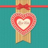 Carte typographique de vacances de jour de valentines rétro Images stock