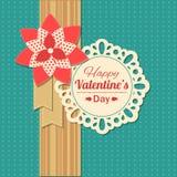 Carte typographique de vacances de jour de valentines rétro Photo stock